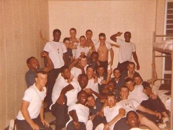 Boot Camp in Orlando, FL Chet Swearingen Front Row Far Left     July 1978