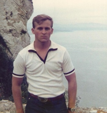 Benteng on the Rock of Gibralter. Morocco can be seen in the background. March 28, 1979