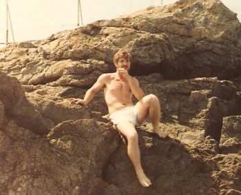 One of the guys who chose to go into the City of Mombasa in a group, for security from prostitutes. This picture was taken while we were cliff diving in Newport, Rhode Island. July 1981
