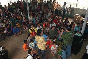 Church Planter Addressing a Gathering