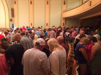 Hillsdale County believers from many different churches, uniting in prayer for revival.