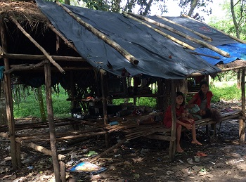 Homes of primitive people. Raised platform with no walls.