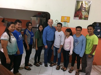 Some of the current students and staff of the Bible school.