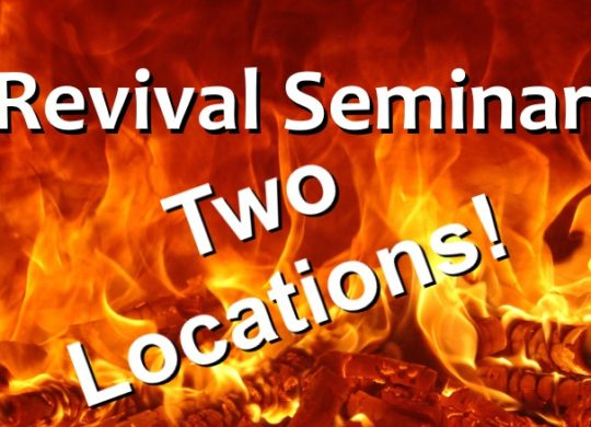Only 1 Spark Revival Seminar Scheduled for Two Locations