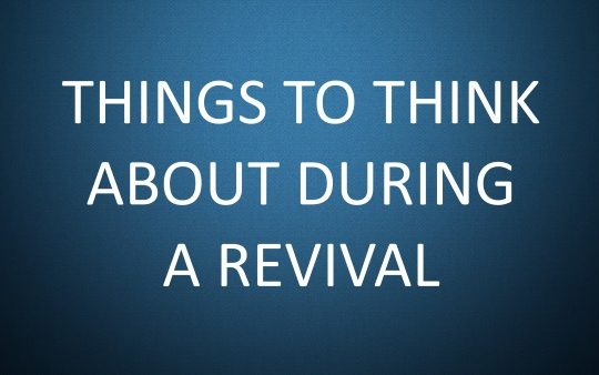 Suggestions During a Revival
