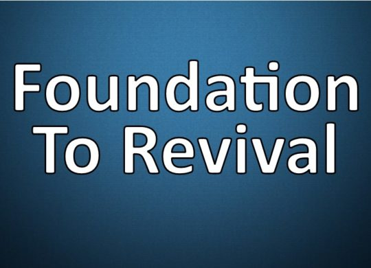 Confession & Repentance is a Foundation to Revival